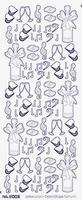 ST3002TG Sticker Feest Transparantgoud