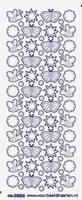 ST3003TZ Sticker Vlinders/Zon Transparant Zilver