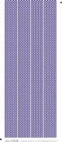 ST3008BL Sticker Rondjes Randen Blauw