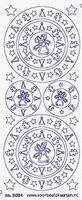 ST3024LGG Sticker Cirkels Kerststerren  Groen/Goud