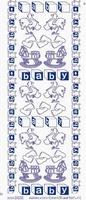 ST3031BBG Sticker Geboorte Babyblauw/goud