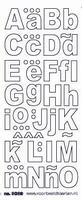 ST3039Z Sticker Alfabet 1 Zilver