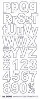 ST3040G Sticker Alfabet 2 Goud