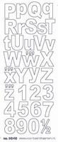 ST3040Z Sticker ALfabet 2 -Zilver