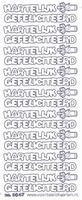 ST3047WM Sticker Hartelijk Gefeliciteerd  Witmulti