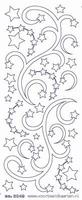 ST3049ZG Sticker Kerstranden  Zilver-goud