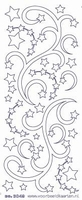 ST3049WG Sticker Kerstranden Wit-goud