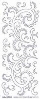 ST3050BBG Sticker Div.Ornament Babyblauw-goud