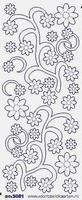 ST3051TRZ Sticker Ornamenten Transparant-zilver