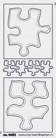 ST3052TG Sticker Puzzelstukjes Transparantgoud