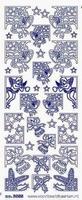 ST3055BL Sticker Hoekjes Blauw