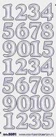 ST3061TG Sticker Cijfers Transparantgoud