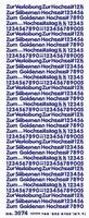 ST3074G Sticker Verlobung-Hochzeit Goud