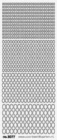 ST3077ZW Sticker Ovaaltjes  Zwart