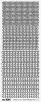 ST3081Z Stickers Halve maantjes Zilver