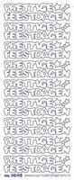 ST3046WG Sticker Prettige Feestdagen  Wit/Goud
